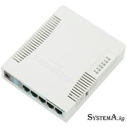 Роутер MikroTik hAP RB951G-2HnD. 2.4 ГГц. 802.11b/g/n.  5 LAN 1000 Мбит/с.