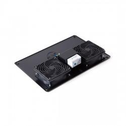 Вентиляторная панель с термостатом SHIP 700402112Т 2 x 12 см Питание 220V Чёрный