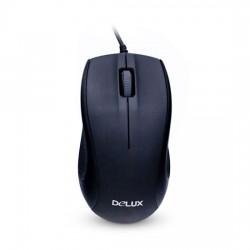 Мышь Delux DLM-375OUB Оптическая 800dpi USB Длина кабеля 1.6 метра Размер:109.6*60.5*37.5 мм. Чёрный