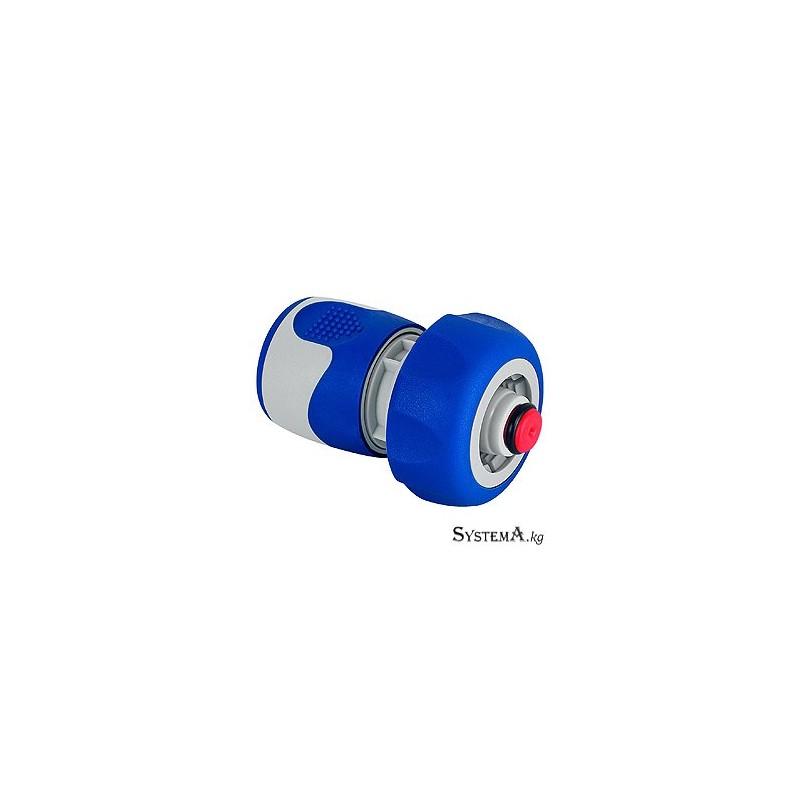 Коннектор с аквастопом для шланга GREEN APPLE GWHC20-060 19 мм (3/4), пластик, TPR