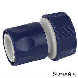 Соединитель (Коннектор) для шланга GREEN APPLE ЕСО GAES20-06 19 мм (3/4),пластик