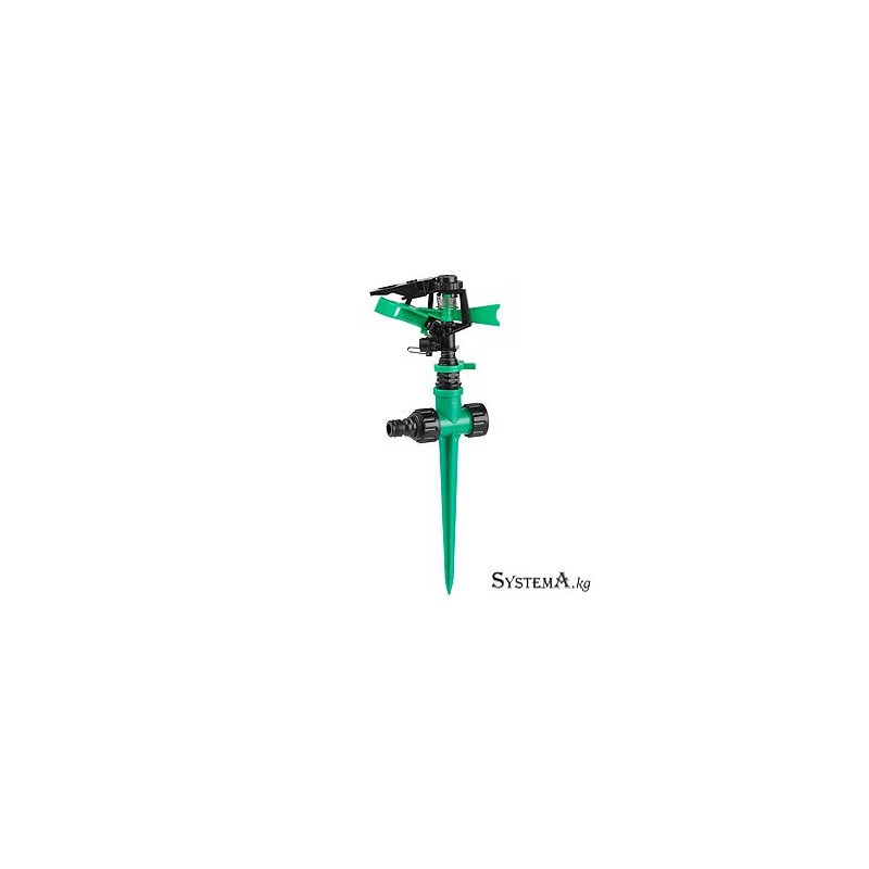 Разбрызгиватель GREEN APPLE GWRS12-046 360 град, импульсный, вращающийся, пластик