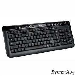 A4TECH KL-40 X-SLIM MULTIMEDIA KEYBOARD USB BLACK US+RUSSIAN