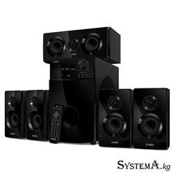 Акустическая система 5.1 SVEN HT-210 черный, RMS 125Вт(50+5x15), Bluetooth 10m, FM Тюнер, Пульт ДУ, MDF, Питание от сети(~220В)