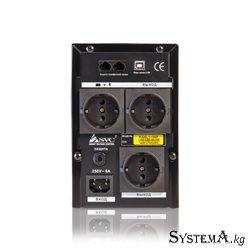 UPS SVC V-1000-F, 1000VA(600W), 12V/7Ahx2, AVR cтабилизатор: 165-275ВА, 4 вых: 3 системных+1 для принтера (Bypass), Black, USB (