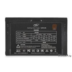 Power Unit DEEPCOOL DA500 500W 80 PLUS® Bronze certified 100-240V/ Intel ATX12V v 2.31 LED 120mm fan