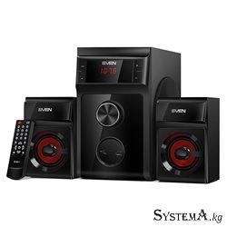 Акустическая система 2.1 SVEN MS-302 черный, RMS 40Вт(20+2x10), SD слот, USB2.0, Пульт ДУ,Питание от сети(~220В)