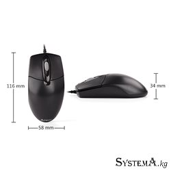 A4TECH  OP-720 OPTICAL MOUSE USB BLACK