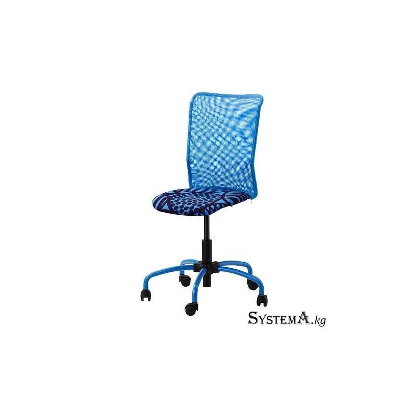 Кресло Ikea TORBJORN, вращающееся кресло, с регулируемой высотой, на колесиках, синее [402.178.99]