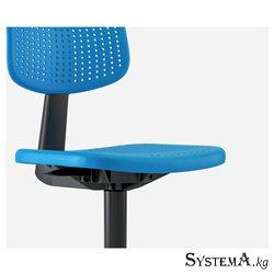 Кресло Ikea Alrik, вращающееся кресло, с регулируемой высотой, на колесиках, синее [402.141.17]