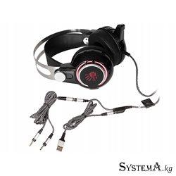 Наушники с микрофоном A4Tech BLOODY M425 HiFi/Gaming Dual-Core MOCI BLACK/RED 3.5mm/USB