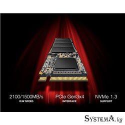 SSD ADATA SX6000PNP 512GB 3D TLC M.2 2280 PCIe Gen3x4 Read / Write: 2100/1400MB
