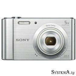 "Цифровой фотоаппарат Sony DSC-W800 Silver (1/2.3"", 20.1MPx, 5152x3864, 5xOZoom, video 1280x720, 2.7"" LCD, SD, Li-ion)"