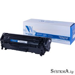 Картридж NvPrint FX-10/Can703/HP Q2612A для HP LJ 1010/1015/1022 Canon LBP2900/L100/M4010/ (2000k)