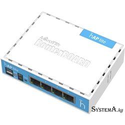 Роутер MikroTik hAP Lite RB941-2nD, Wi-Fi 2,4 ГГц, 802.11 b/g/n, 4 WAN/LAN 100 Мб