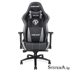Gaming Chair AD4XL-05-BG-PV AndaSeat Spirit King Series BLACK&GRAY 3D Armrest 65mm wheel PVC Leather
