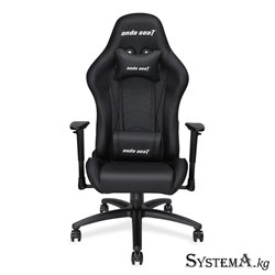 Gaming Chair AD5-01-B-PV AndaSeat Axe Series BLACK 2D Armrest 60mm wheels PVC Leather