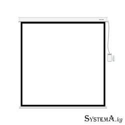 Экран моторизированный (с пультом Д/У) Deluxe DLS-ERC203x153W, Настенный/потолочный, Рабочая поверхность 195х145 см, 4:3, Matt w