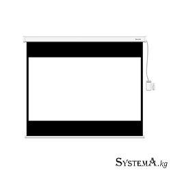 Экран моторизированный (с пультом Д/У) Deluxe DLS-ERС350x270W, Настенный/потолочный, Рабочая поверхность 342x262, 16:9, Matt whi