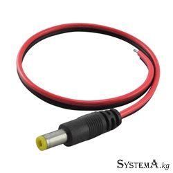коннектор питания HW-C16 DC male cable(red+ black)25cm length