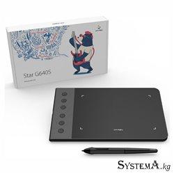 """Графический планшет XP-Pen Star G640S, Разрешение 5080 lpi, Чувствительность к нажатию 8192, Интерфейс USB, Рабочая область 6""""х3"""