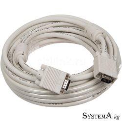шнур VGA 15x15 (male - male) 10м Белый