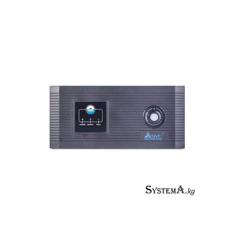 Инвертор SVC DIL-1000 (800W), Вход 12В и/или 220В, Выход 220В, (Чистая синусоида на выходе) Функция заряда батарей 20A, Чёрный