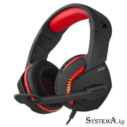 Наушники SVEN AP-U989MV Gaming c микрофоном, черный-красный