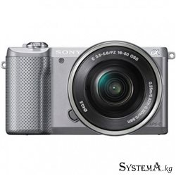 "Цифровой фотоаппарат Sony ILCE-5000L 16-50 Silver (20.1MPx, 5456x3632, 23.5x15.6 mm, video 1920x1080, 3.0"" LCD, HDMI, Wi-Fi, SD)"