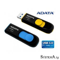 Флеш-накопитель USB 3.0 64GB ADATA UV128 (Black-Blue, Plastic)